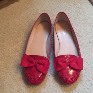 Kate Spade. Red leather flats